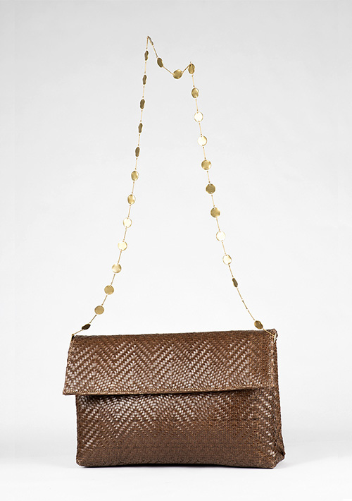 BonVivantBags - bolso de mano Casablanca Chocolate Dos