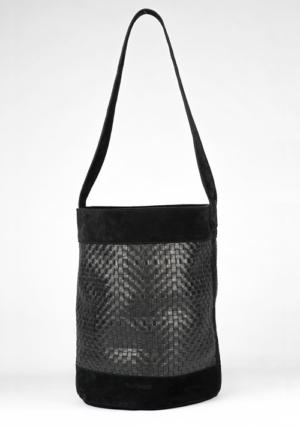 BonVivantBags - saco grande Sabah Negro vista lateral