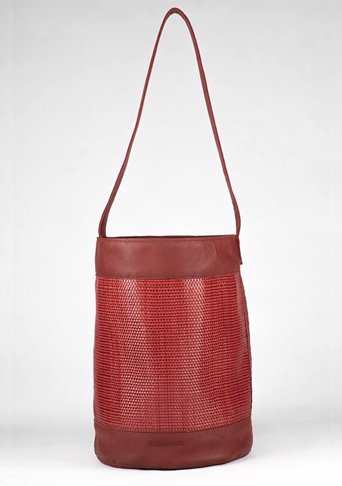 BonVivantBags - saco grande Sabah Rojo Trenzado