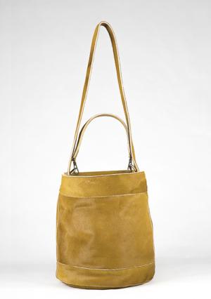 BonVivantBags - saco mediano Sabah Africano Piel Potro Amarillo