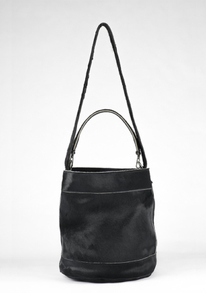 BonVivantBags - saco mediano Sabah Africano Piel Potro Negro