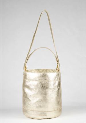 BonVivantBags - saco mediano Sabah Metalizado Dorado